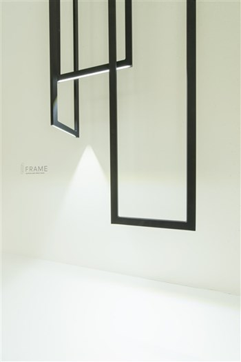 Inarchi Frame  LED Pendant Light, Black/White