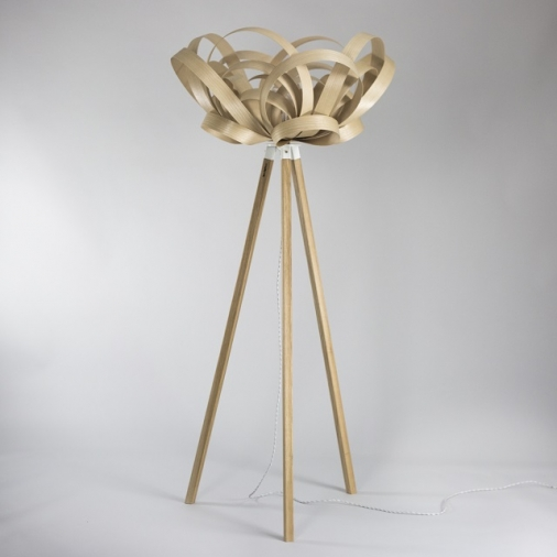 Bloom Pendant and Wooden Floor Stand