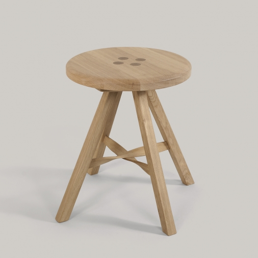 Stuggy Stool Oak