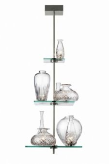 Cicatrices De Luxe Suspension Pendant Light with Leaded Crystal Vases