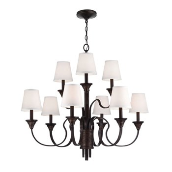 Elstead Arbor Creek  9lt Chandelier