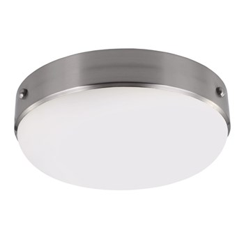 Elstead Cadence  Flush Mount, Brushed Steel