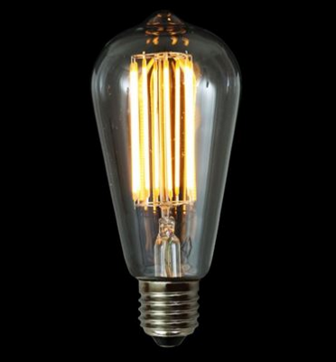 LED Teardrop Dimmable Filament Bulb E27