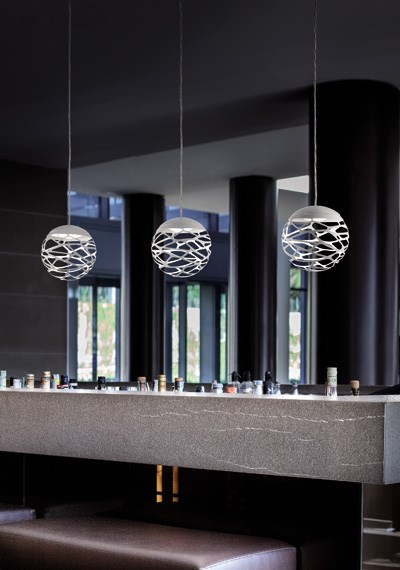 Studio Italia Design  Kelly Cluster  with SO 1 Sphere Suspension Light