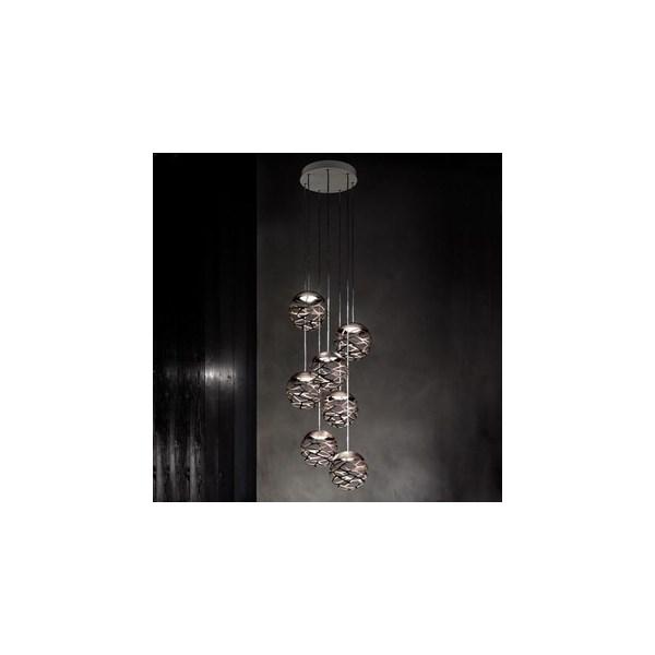 Studio Italia Design  Kelly Cluster  SO3 7 Spheres Suspension Light