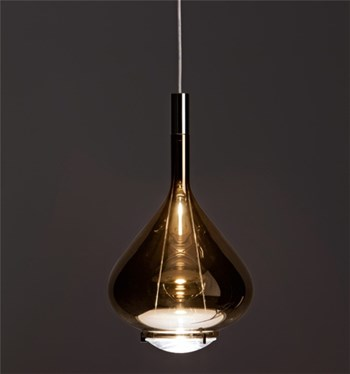 Studio Italia Design  Sky Fall  SO1 Medium Suspension Light, Copper