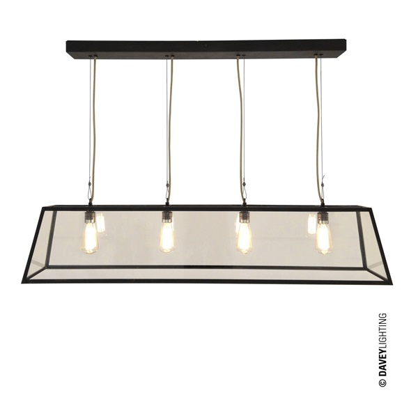 Diner 125 Internally Glazed Pendant Light with Clear Glass