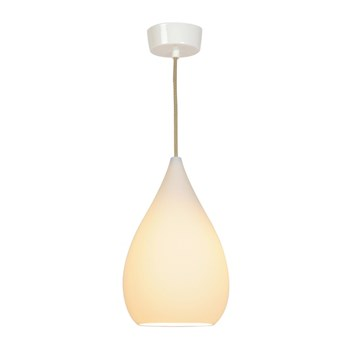 Original BTC Drop One  Pendant Light, White Matt