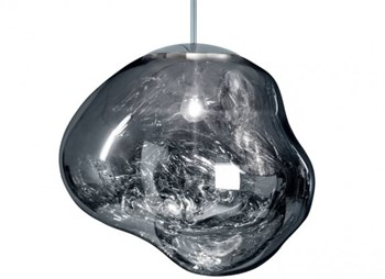 Tom Dixon Melt  Organic Shaped Globe, Chrome