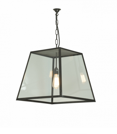 Quad Large Pendant Light Weathered Brass