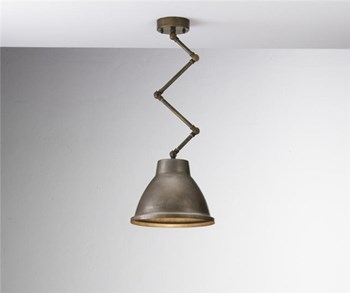 Il Fanale Loft  Brass Indoor Iron Scissor Suspension Lamp, Small