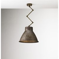 Loft Brass Indoor Iron Scissor Suspension Lamp