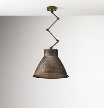 Il Fanale Loft  Brass Indoor Iron Scissor Suspension Lamp, Medium