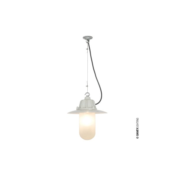 Original BTC Dockside Pendant Light With Reflector Putty Grey