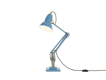 Anglepoise Original 1227 Brass  Desk Lamp with Spring, Dusty Blue