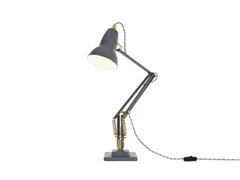 Anglepoise Original 1227 Brass  Desk Lamp with Spring, Elephant Grey