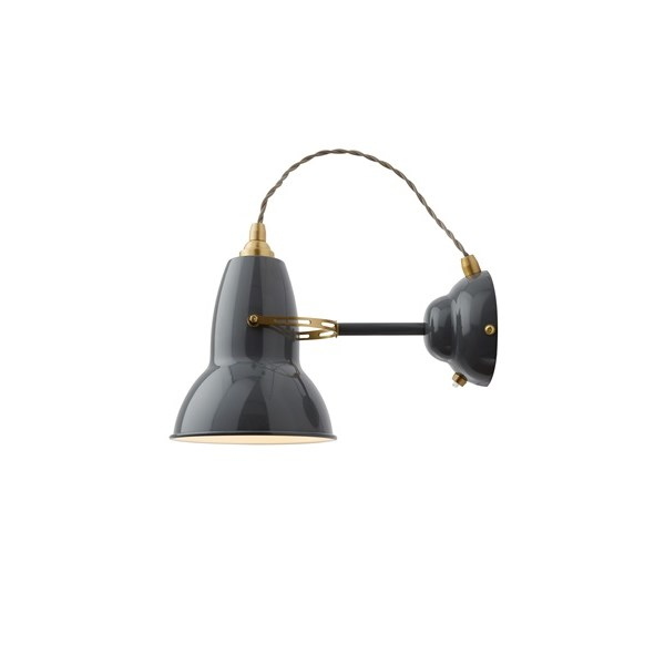 Anglepoise Original 1227 Brass  Wall Light With Flexible Shade