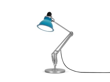 Anglepoise Type 1228  Adjustable Desk Lamp with Spring, Minerva Blue