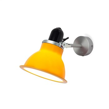 Anglepoise Type 1228  Rotatable Wall Light in Aluminium, Daffodil Yellow
