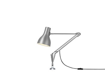 Anglepoise Type 75  Adjustable Desk Insert Lamp and Spring, Brushed Aluminium