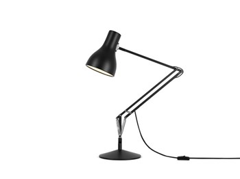 Anglepoise Type 75  Adjustable Desk Lamp with Spring, Jet Black