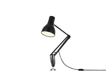 Anglepoise Type 75  Adjustable Desk Insert Lamp and Spring, Jet Black