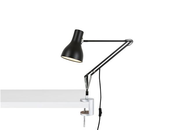 Type 75 Adjustable Desk Lamp with Clamp and Spring