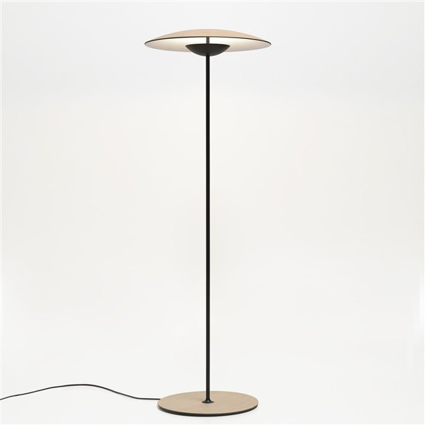Marset Ginger  P LED Floor Lamp with Lacquered Black Matt Metal Stem
