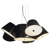Tam Tam 5 Black Central Shade Pendant Various Satellite Shades