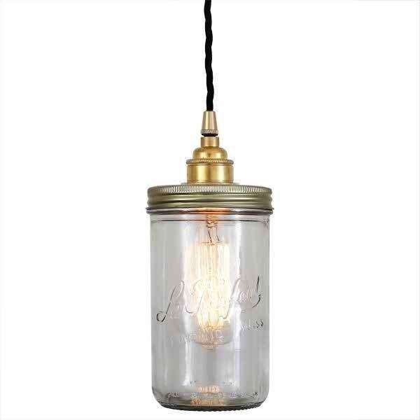 Mullan Jam Jar  Pendant Globe Light 140mm