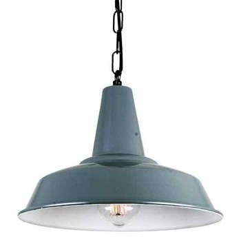 Mullan Hex  Pendant Light in Polished Brass, Grey