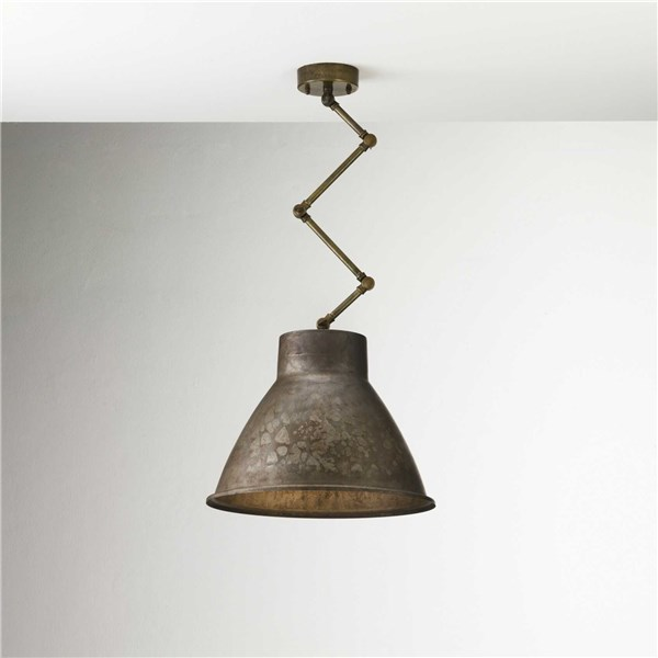 Il Fanale Loft  Brass Indoor Iron Scissor Suspension Lamp