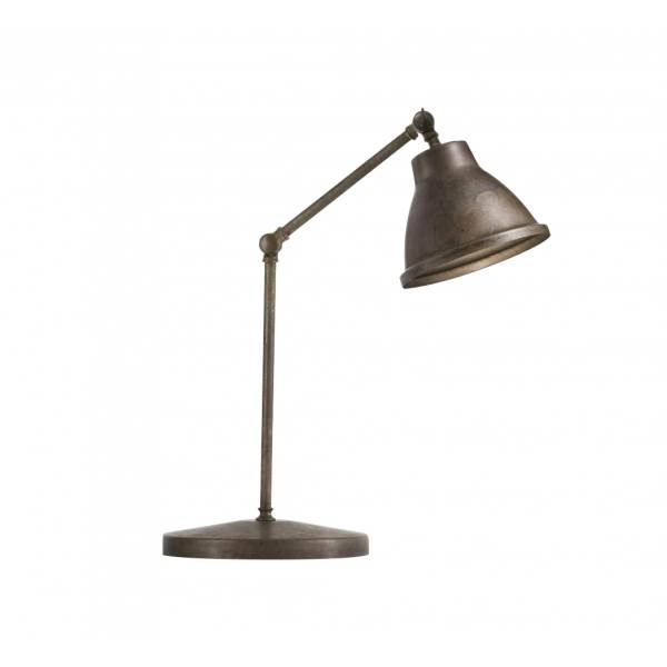 Il Fanale Loft Functional Table Joint Lamp with Grid Brass