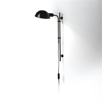 Marset Funiculi  A, Wall Lamp With Funicular Action, Black