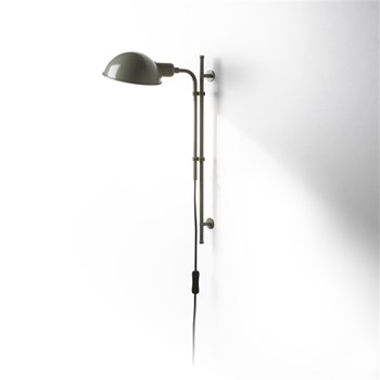 Marset Funiculi  A, Wall Lamp With Funicular Action, Moss grey