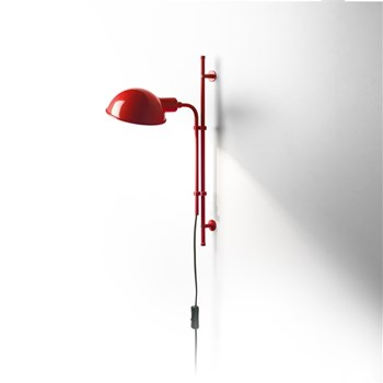 Marset Funiculi  A, Lacquered Aluminium Shade, Red