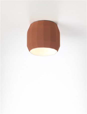 Marset Scotch Club  Ceiling Light With Ceramic Diffuser, Terracotta-White