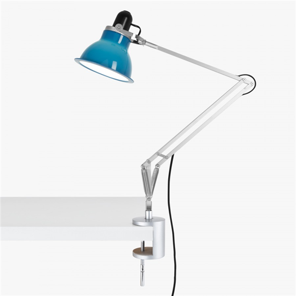Type 1228 Adjustable Desk Lamp with Clamp and Spring