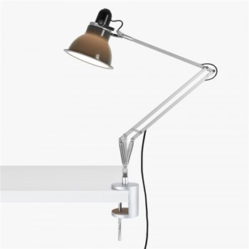 Anglepoise Type 1228  Adjustable Desk Lamp with Clamp and Spring, Granite Grey
