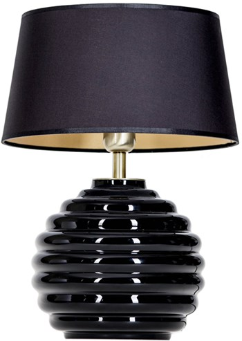 4 Concepts SAINT TROPEZ  Black, Small Glass Table Lamp