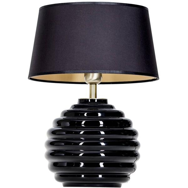 4 Concepts SAINT TROPEZ  Black, Small Glass Table Lamp