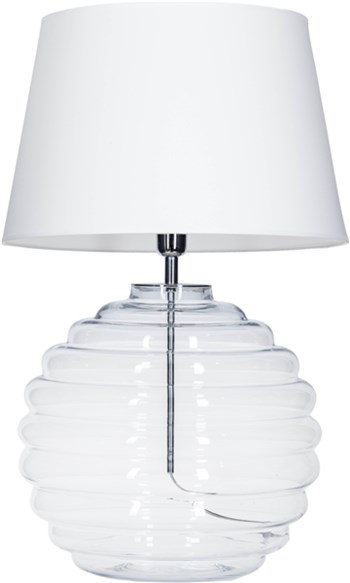 4 Concepts SAINT TROPEZ  White, Small Glass Table Lamp