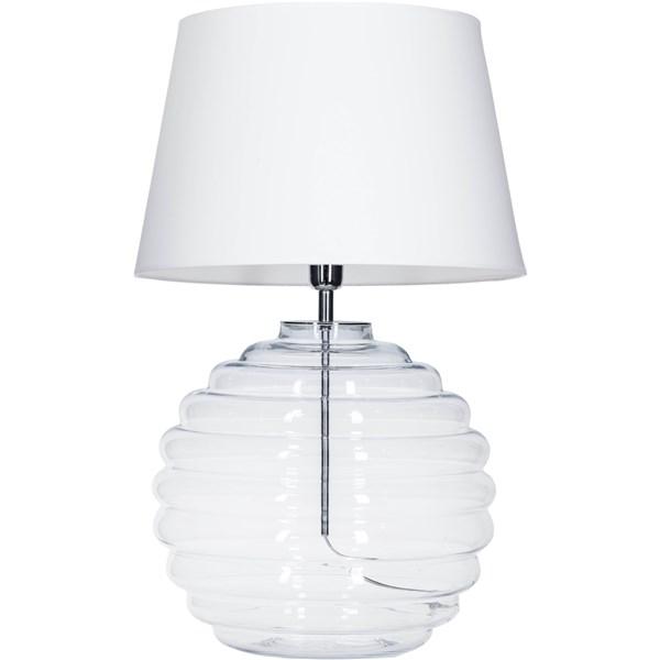 4 Concepts SAINT TROPEZ  White, Small Glass Table Lamp