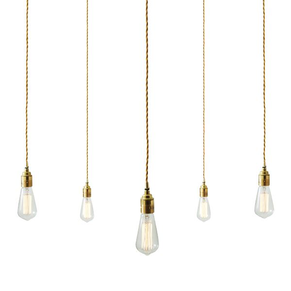 Lome Pendant 12 Light Cluster Antique Brass