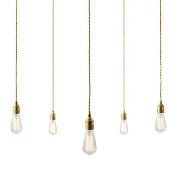 Mullan Lome  Pendant 12 Light Cluster Antique Brass