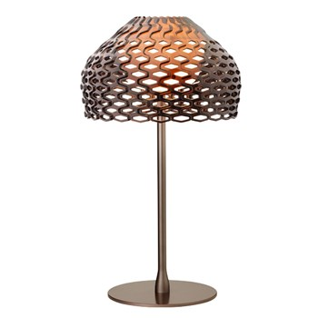 Flos Tatou  T1, Table Lamp with Shade, Ochre Grey