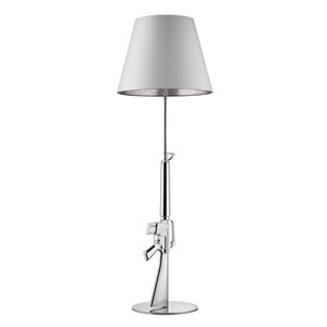 Flos Gun  Lounge Floor Lamp Include Shade, Chrome