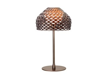 Flos Tatou  T1 Diffused Light Table Lamp Include Shade, Ochre Grey