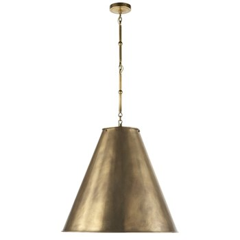 Visual Comfort Goodman  Hanging Lamp in Hand Rubbed Antique Brass, Antique Brass