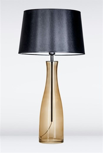 4 Concepts Amsterdam  Taupe, Glass Table Lamp, Black/White